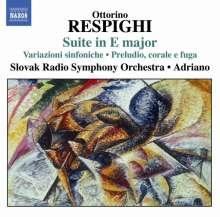 Ottorino Respighi (1879-1936): Suite in E-dur, CD
