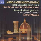 Mario Castelnuovo-Tedesco (1895-1968): Klavierkonzerte Nr.1 & 2, CD