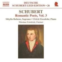 """Franz Schubert (1797-1828): Lieder """"Romantische Dichter"""" Vol.3, CD"""
