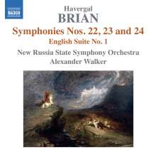 Havergal Brian (1876-1972): Symphonien Nr.22-24, CD