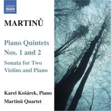 Bohuslav Martinu (1890-1959): Klavierquintette Nr.1 & 2, CD
