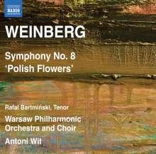 """Mieczyslaw Weinberg (1919-1996): Symphonie Nr.8 """"Polish Flowers"""", CD"""