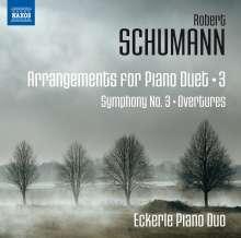 Robert Schumann (1810-1856): Arrangements für Klavier 4-händig Vol.3, CD
