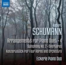 Robert Schumann (1810-1856): Arrangements für Klavier 4-händig Vol.4, CD