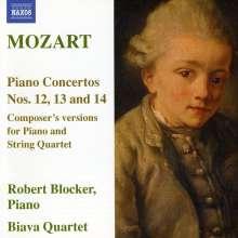Wolfgang Amadeus Mozart (1756-1791): Klavierkonzerte Nr.12-14 für Klavierquintett, CD