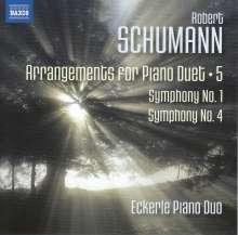 Robert Schumann (1810-1856): Arrangements für Klavier 4-händig Vol.5, CD