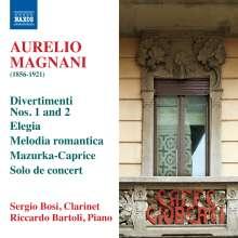 Aurelio Magnani (1856-1921): Kammermusik für Klarinette & Klavier, CD