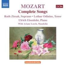 Wolfgang Amadeus Mozart (1756-1791): Lieder, 2 CDs
