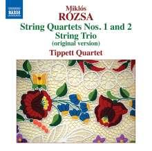 Miklos Rozsa (1907-1995): Streichquartette Nr.1 & 2 (op.22 & 38), CD