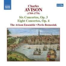 Charles Avison (1709-1770): Concerti op.3 Nr.1-6 & op.4 Nr.1-8, 2 CDs