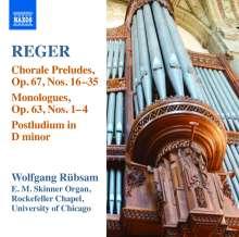 Max Reger (1873-1916): Sämtliche Orgelwerke Vol.15, CD