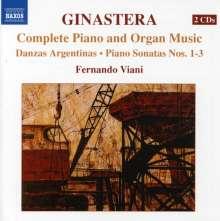 Alberto Ginastera (1916-1983): Sämtliche Klavier- und Orgelwerke, 2 CDs