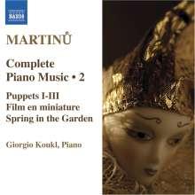 Bohuslav Martinu (1890-1959): Sämtliche Klavierwerke Vol.2, CD