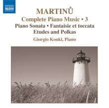 Bohuslav Martinu (1890-1959): Sämtliche Klavierwerke Vol.3, CD