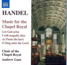 "Georg Friedrich Händel (1685-1759): Chorwerke ""Music for the Chapel Royal"", CD"