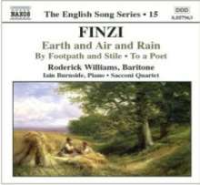 Gerald Finzi (1901-1956): Earth and Air and Rain op.15 für Bariton & Klavier, CD