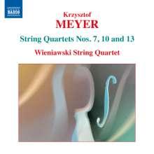 Krzysztof Meyer (geb. 1943): Streichquartette Nr.7,10,13, CD