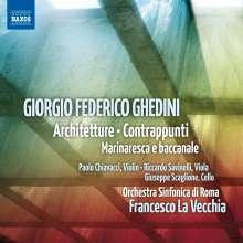 """Giorgio Federico Ghedini (1892-1965): Konzert für Orchester """"Architetture"""", CD"""