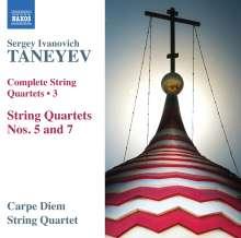 Serge Tanejew (1856-1915): Sämtliche Streichquartette Vol.3, CD