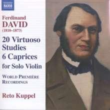 Ferdinand David (1810-1873): Etüden Nr.1-20 für Violine solo (basierend auf den 24 Etüden op.70 von Moscheles), CD
