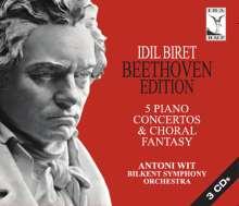 Idil Biret - Beethoven-Edition (Klavierkonzerte), 3 CDs