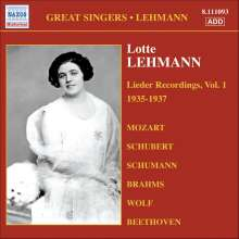 Lotte Lehmann - Lieder Recordings Vol.1, CD