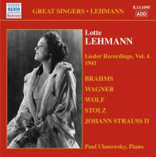 Lotte Lehmann - Lieder Recordings Vol.4, CD