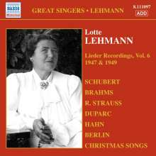 Lotte Lehmann - Lieder Recordings Vol.6, CD