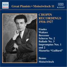 Benno Moiseiwitsch - Chopin Recordings Vol.1, CD