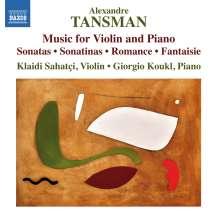 Alexandre Tansman (1897-1986): Kammermusik für Violine & Klavier, CD