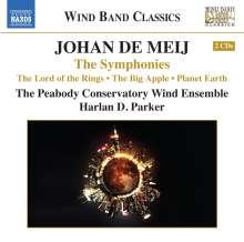 Johan de Meij (geb. 1953): Symphonien Nr.1-3, 2 CDs