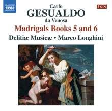 Carlo Gesualdo von Venosa (1566-1613): Madrigali Buch 5 & 6, 3 CDs