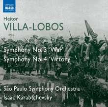 Heitor Villa-Lobos (1887-1959): Symphonien Nr.3 & 4, CD