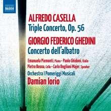 Alfredo Casella (1883-1947): Tripelkonzert op.56 für Klaviertrio & Orchester, CD