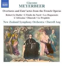 Giacomo Meyerbeer (1791-1864): Ouvertüren & Entr'actes aus Opern, CD