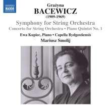 Grazyna Bacewicz (1909-1969): Symphonie für Streichorchester, CD