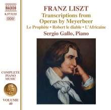 Franz Liszt (1811-1886): Klavierwerke Vol.40 - Transcriptions from Operas by Meyerbeer, CD
