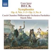 Franz Ignaz Beck (1734-1809): Symphonien op.3 Nr.6 & op.4 Nr.1-3, CD