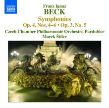 Franz Ignaz Beck (1734-1809): Symphonien op.3 Nr.5 & op.4 Nr.4-6, CD