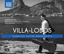 "Heitor Villa-Lobos (1887-1959): Gitarrenwerke ""The Guitar Manuscripts"", 3 CDs"