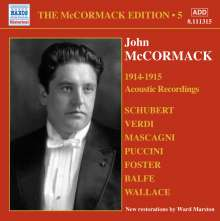 John McCormack-Edition Vol.5/The Acoustic Recordings 1914/15, CD