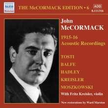 John McCormack-Edition Vol.6/The Acoustic Recordings 1915/16, CD