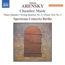 Anton Arensky (1861-1906): Kammermusik, CD