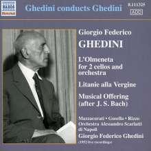 """Giorgio Federico Ghedini (1892-1965): Konzert für 2 Celli & Orchester """"L'Olmeneta"""", CD"""