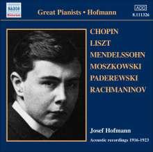 Josef Hofmann - Acoustic Recordings 1916-1923, CD