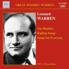 Leonard Warren singt Lieder, CD
