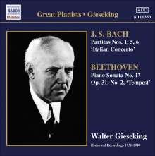 Walter Gieseking spielt Bach & Beethoven, CD