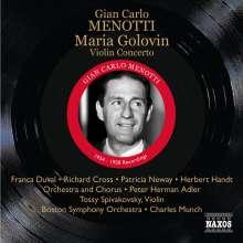 Gian-Carlo Menotti (1911-2007): Maria Golovin, CD