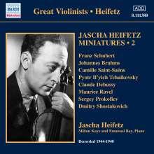 Jascha Heifetz - Miniaturen Vol.2, CD