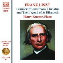 Franz Liszt (1811-1886): Klavierwerke Vol.47 - Transcriptions from Christus and The Legend of St. Elisabeth, CD
